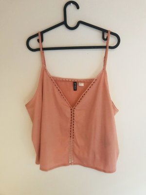 H&M Spaghetti Strap Top rose-gold-coloured