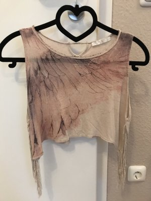 Bershka Knitted Top rose-gold-coloured