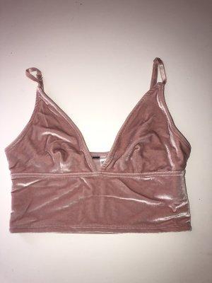 H&M Cropped shirt roze