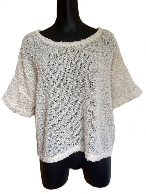 H&M Gehaakte top wolwit Polyester