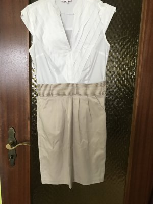Kurzes Weiß-Beiges Kleid