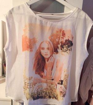 Kurzes weißes Shirt in M