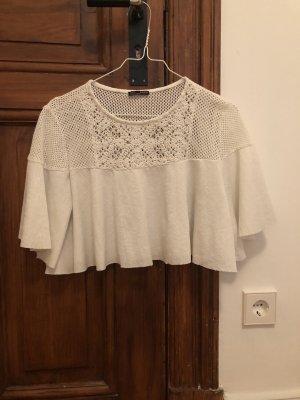 Kurzes weißes Shirt von zara
