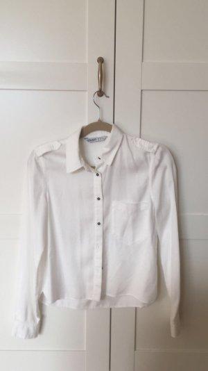 Kurzes weißes Zara Hemt