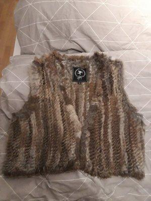 Gypsy Smanicato di pelliccia marrone-grigio