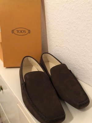 Tod's Slip-on Shoes dark brown suede