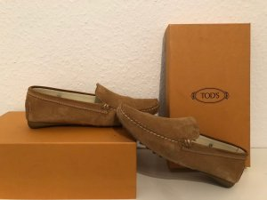 Tod's Slip-on Shoes sand brown suede