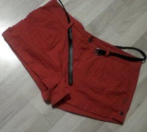Denim Co. Short taille haute rouge