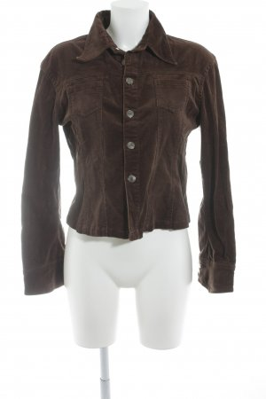 Veste courte brun foncé style décontracté