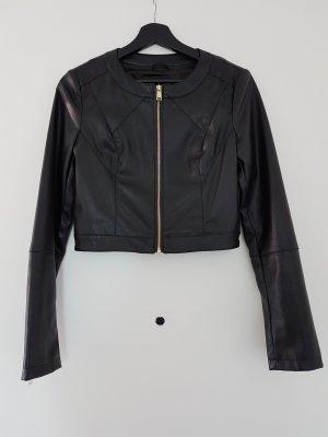 Kurzjacke / kurzer Blazer / Lederjacke schwarz von GUESS Gr S