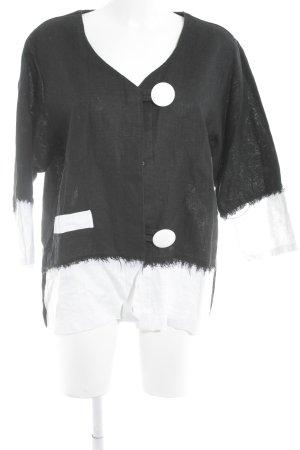 Kurzjacke schwarz-weiß extravaganter Stil