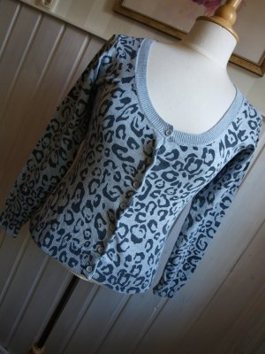 Kurzjacke Strickjacke Leoprint