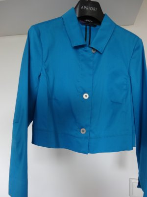 Apriori Short Blazer turquoise cotton