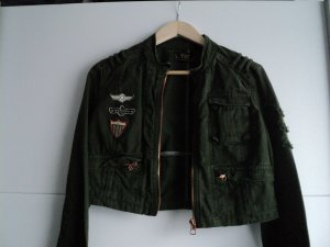Zara Trafaluc Veste militaire vert foncé coton