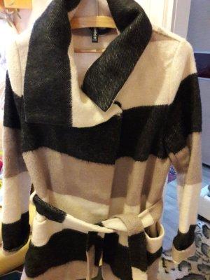H&M Divided Short Coat black-white wool