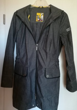 Frieda & Freddies New York Hooded Coat dark grey-light grey mixture fibre