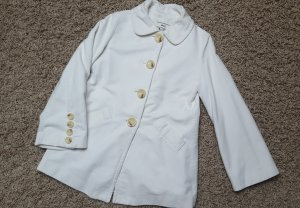 Mango Short Coat white-natural white cotton