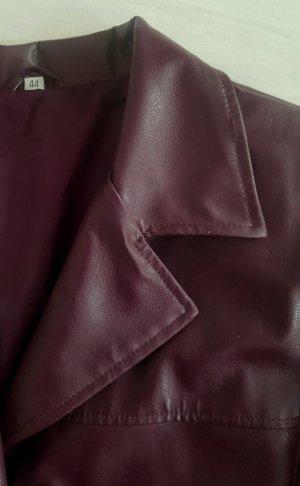 Short Coat bordeaux imitation leather