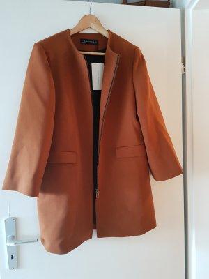 Zara Cappotto corto marrone-cognac