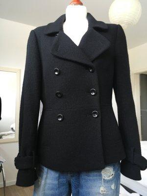 Kurzmantel Caban Jacke für Übergang von WE Gr. 38 / M 100 % Wolle