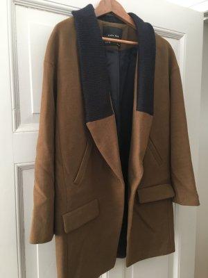 Zara Basic Giacca lunga marrone