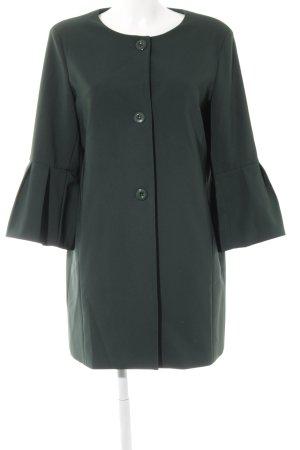 Abrigo corto verde oscuro elegante