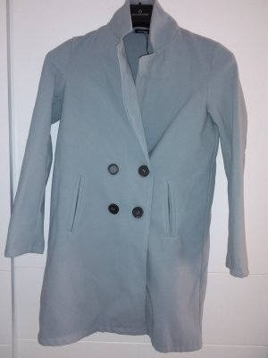 Boohoo Short Coat pale blue textile fiber