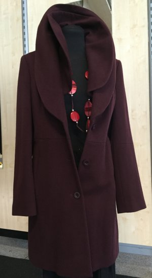 Madeleine Wool Coat brown red new wool