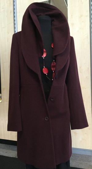 Madeleine Abrigo de lana rojo amarronado