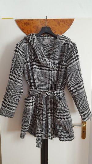 Vero Moda Manteau en laine noir-blanc laine