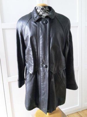 E.B. Company Cappotto in pelle nero Pelle