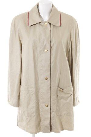 Cappotto corto beige chiaro-rosso scuro stile casual
