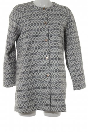 Manteau court motif ikat style décontracté