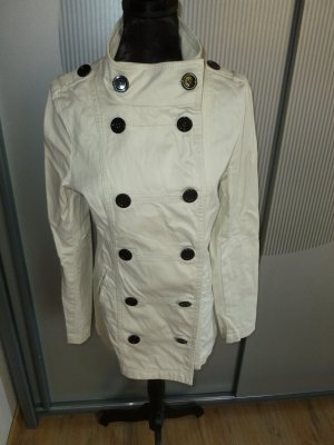 Kurzmantel Jacke beige weiß H&M