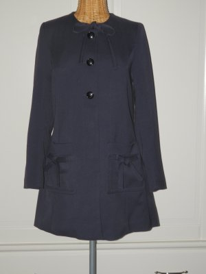 H&M Short Coat dark blue-pink