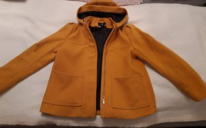 H&M Short Coat yellow-gold orange