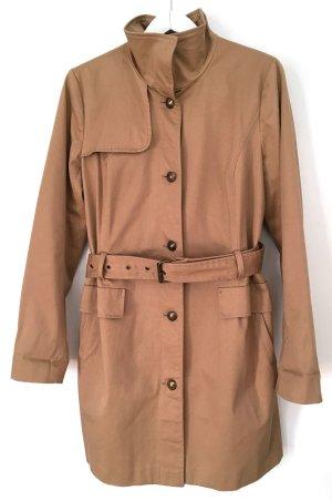 Promod Short Coat sand brown cotton