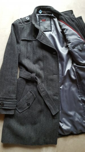 QS by s.Oliver Short Coat anthracite wool