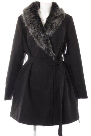 Manteau court noir-gris clair style décontracté