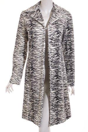 Kurzmantel schwarz-weiß abstraktes Muster extravaganter Stil
