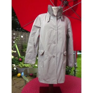 Basler Manteau court argenté-gris clair tissu mixte