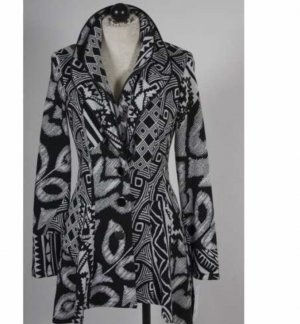 Frank Lyman Short Coat black-white