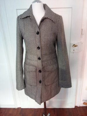 H&M Short Coat white-black