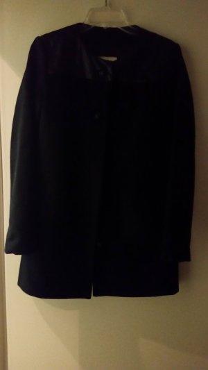 Mango Cappotto corto nero Fibra sintetica
