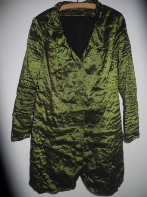 Marie Noir Between-Seasons-Coat forest green-green polyester