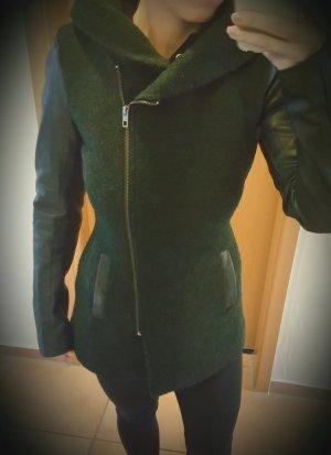 Kurzmantel XS grün/schwart
