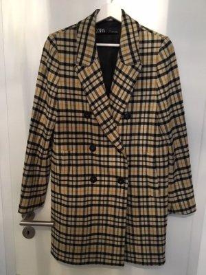 Zara Short Coat multicolored mixture fibre