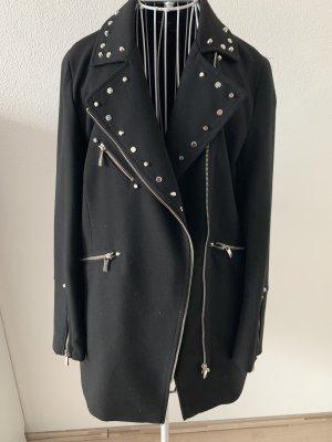 Zara Woman Abrigo corto negro