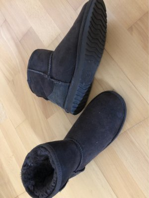 Warmbat Australia Fur Boots dark brown-taupe