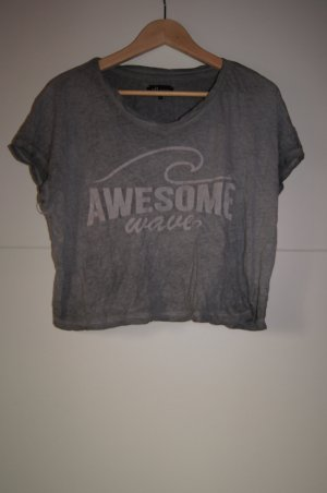 Kurzshirt, Cropped Shirt, Croppedshirt, Cropped Top, Awesome Wave von YFL